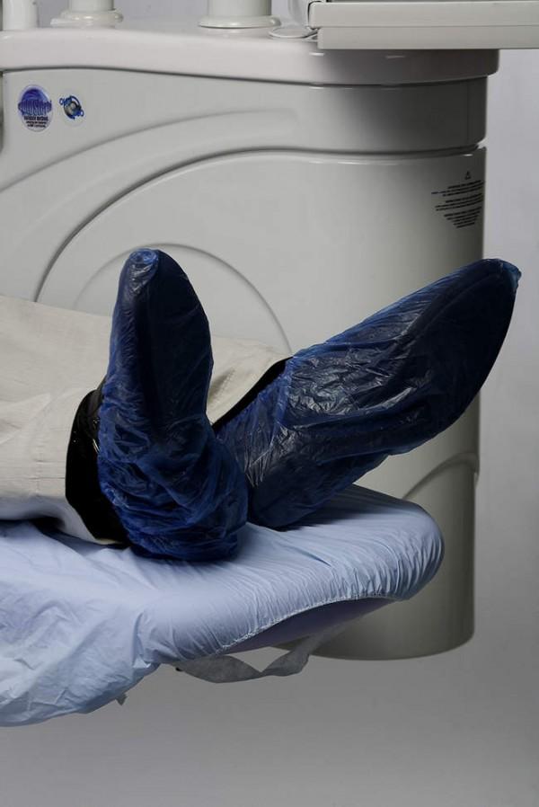 Waterproof shoe covers with elastic opening
