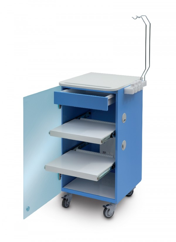 LC implant Suite - 2 removable shelves + 1 drawer  - blue col.
