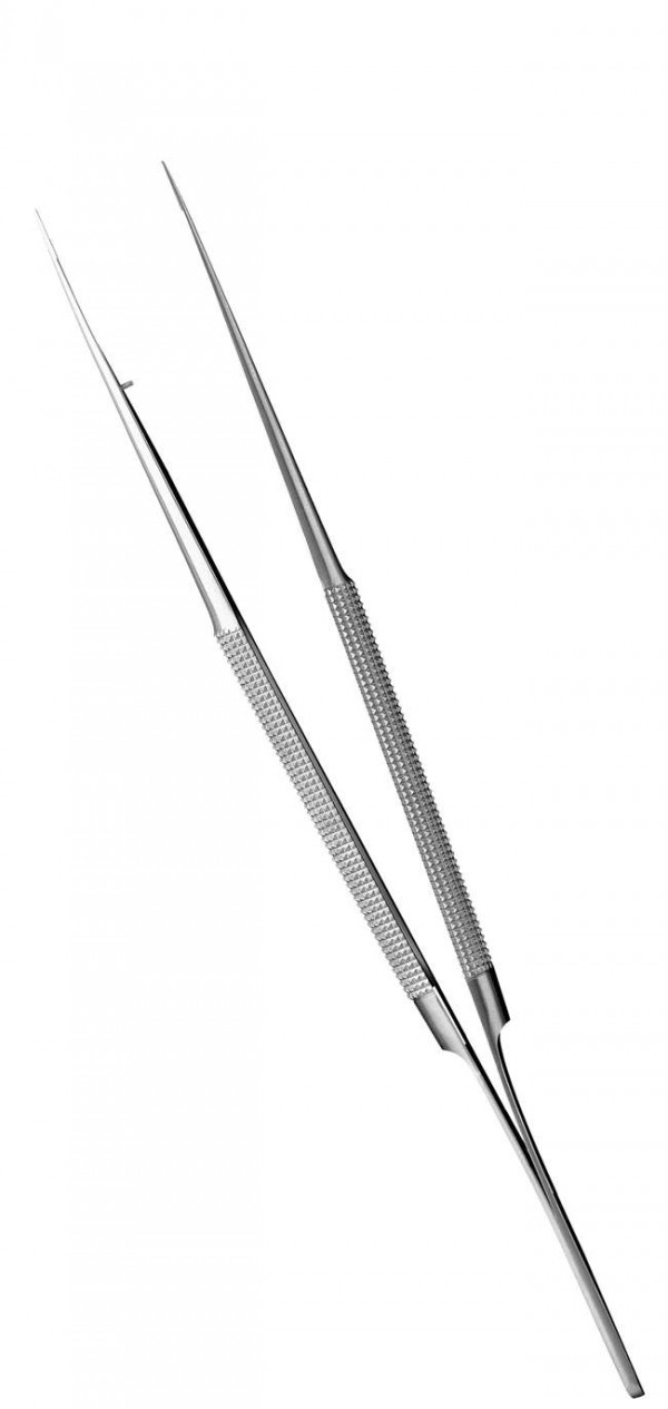 "Diamond Edges Micro Surgical Tweezers  (7.09"")"
