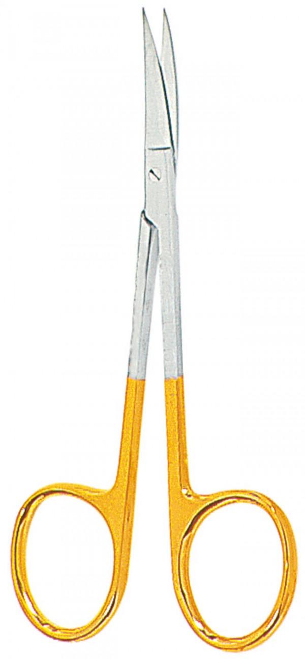 """Iris TC scissors, curved – 4.53"""""""