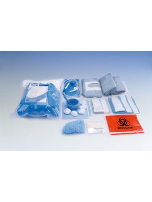Oral Surgery Set - Drape with adhesive U-Shaped