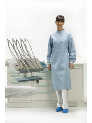 "Surgically folded Expo model gown and 2 hand towels wrapped in medical paper (length 52.4"" XL)"