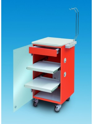 LC implant Suite - 2 removable shelves + 1 drawer  - orange col.