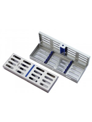 "Locking Tray for 4 instruments complete with base, lid, silicone insert frame and holder- 7.09""x2.56""x0.87"""