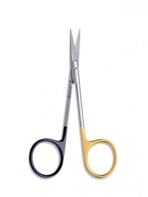 Iris Black Sharp straight scissor 19,5 cm