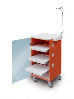 LC Implant Suite - 3 removable shelves - orange col.