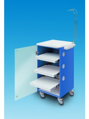 LC Implant Suite - 3 removable shelves - blue col.