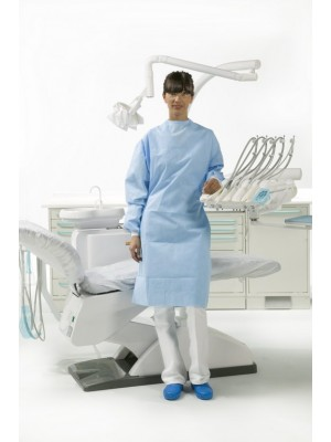 "Surgically folded Special Plus model gown and 2 hand towels wrapped in medical paper (length 51.22"" XXL)"