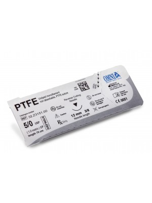 PTFE 5/0 - LIMITED EDITION - needle tip sharp, needle size 12 mm 1/2 circle, sharp body - 60 cm