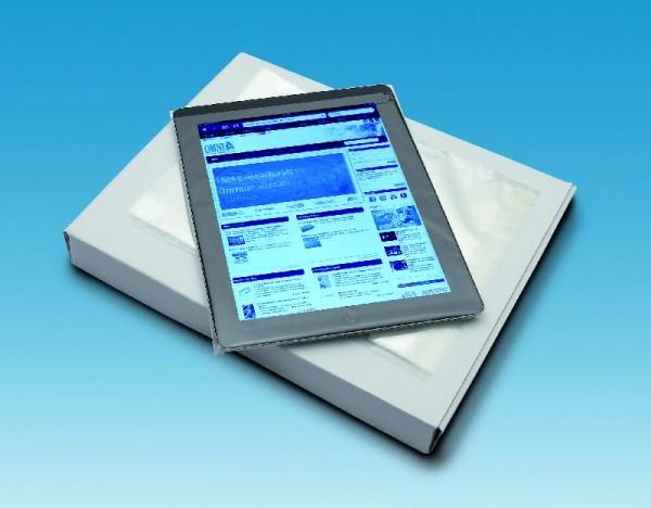 Busta di protezione per tablet con chiusura adesiva - cm 23x19